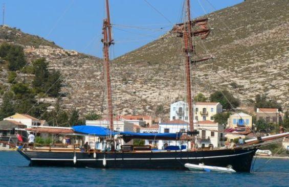Tall Ship Rhea At Anchor