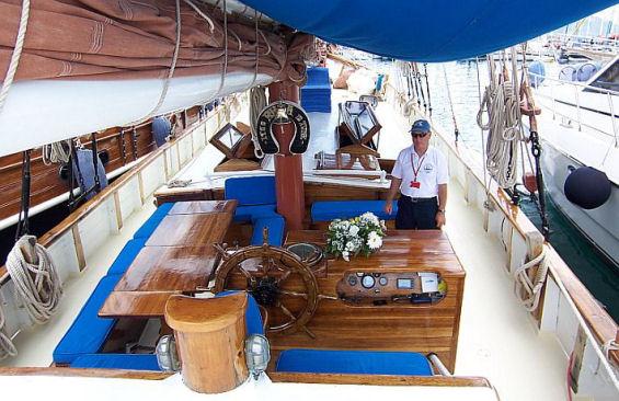 Tall Ship Rhea Deck