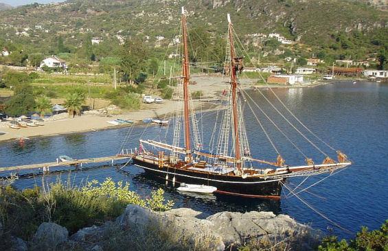 Tall Ship Rhea Moored