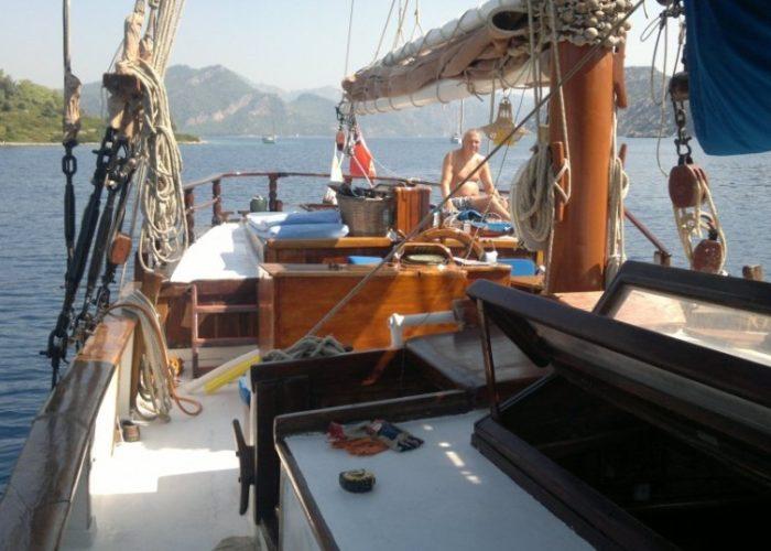 Tall Ship Rhea Starboard Looking Aft