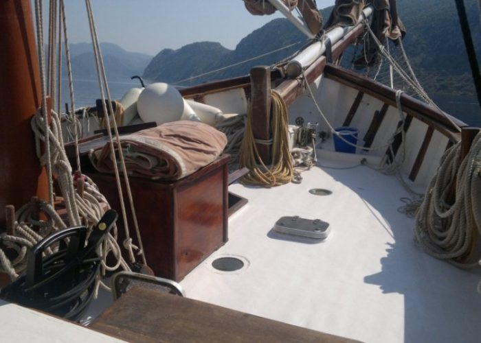 Tall Ship Rhea Starboard Side Looking Forwards