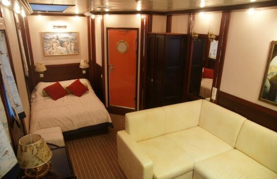 Tall Ship Running On Waves Cabin