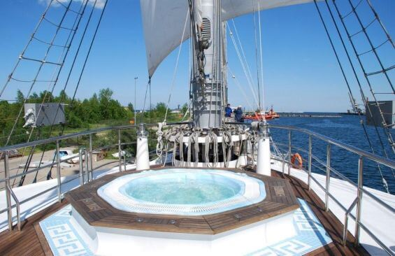 Tall Ship Running On Waves Jacuzzi