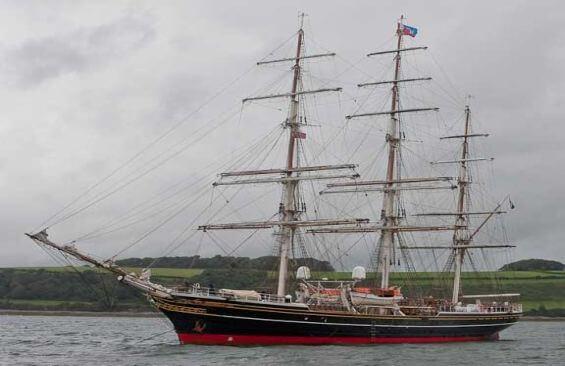 Tall Ship Stad Amsterdam Anchored