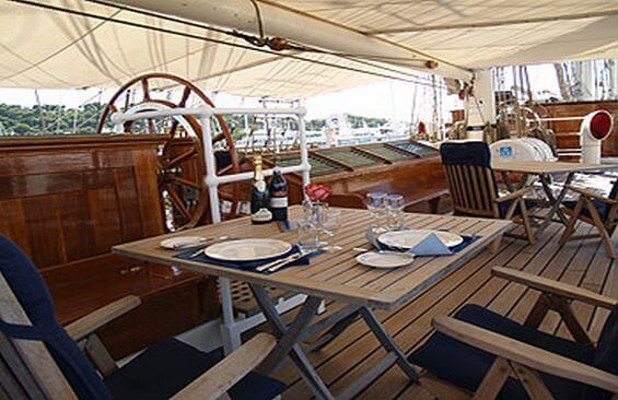 Tall Ship Stad Amsterdam Dining On Deck
