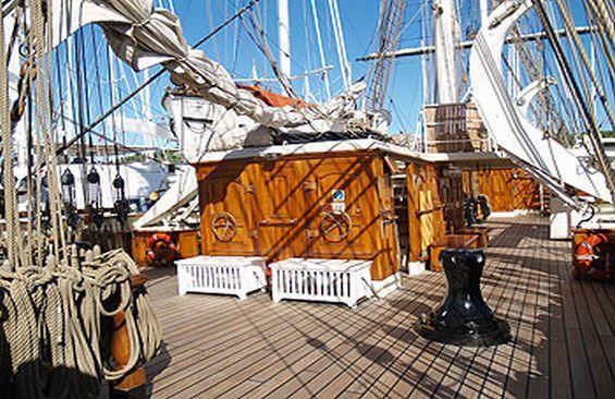 Tall Ship Stad Amsterdam On Deck