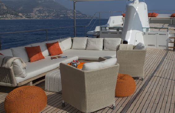Classic Motor Yacht Sultana On Deck