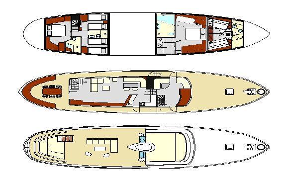 Classic Motor Yacht Sultana Plans