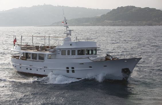 Classic Motor Yacht Sultana Starboard Side