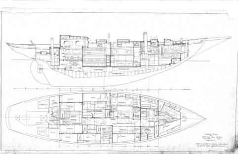 Classic Sailing Yacht Desiderata Cabin Plan