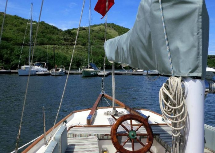 Classic Sailing Yacht Desiderata Cockpit Aft