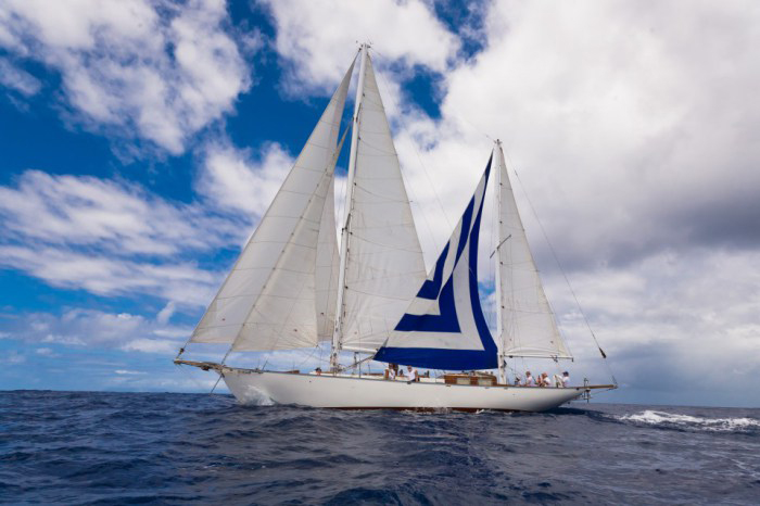 Classic Sailing Yacht Desiderata Under Sail 02
