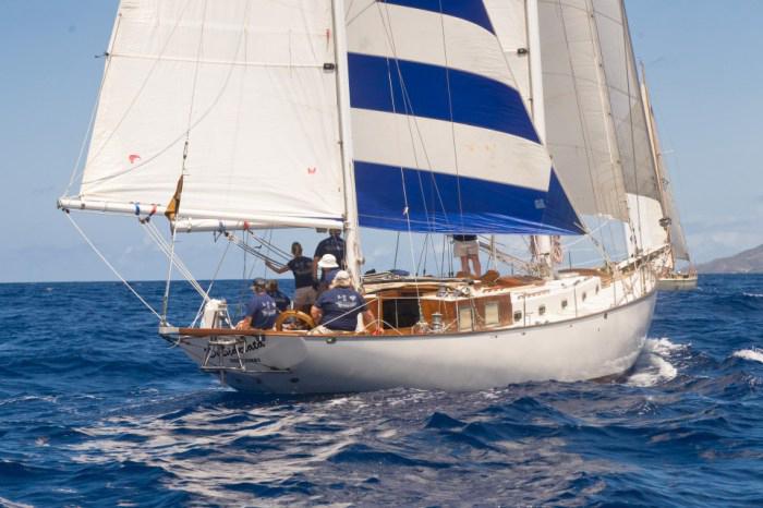 Classic Sailing Yacht Desiderata Under Sail 03