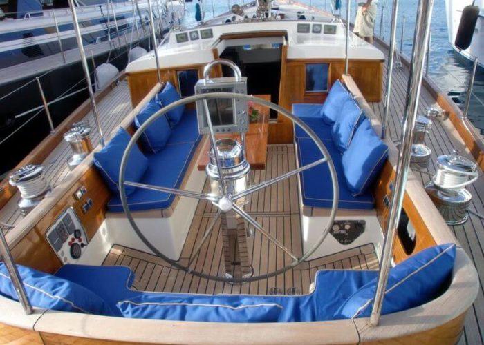 Classic Sailing Yacht Aurelius Cockpit