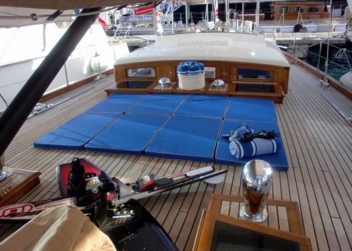 Classic Sailing Yacht Aurelius Deck Lounge