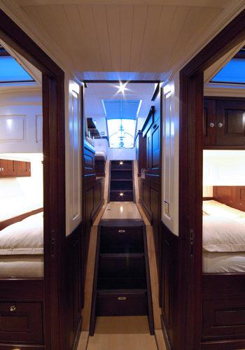 Classic Sailing Yacht Aurelius Stairs