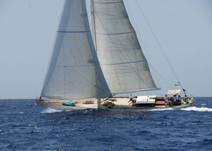 Classic Sailing Yacht Aurelius Under Sail