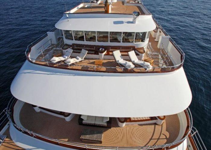 Classic Motor Yacht Sherakhan Aft Decks