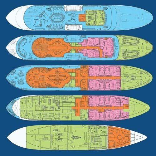 Classic Motor Yacht Sherakhan Layout