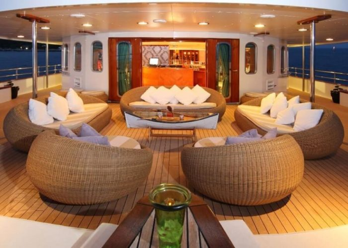 Classic Motor Yacht Sherakhan Middle Aft Deck