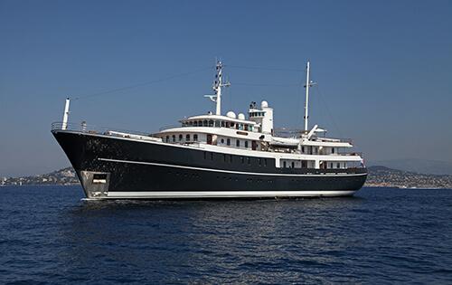 Classic Motor Yacht Sherakhan Port Side