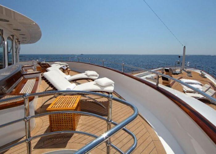 Classic Motor Yacht Sherakhan Sunaft Deck