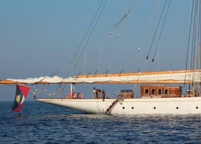 Classic Sailing Yacht Germania Nova Aft