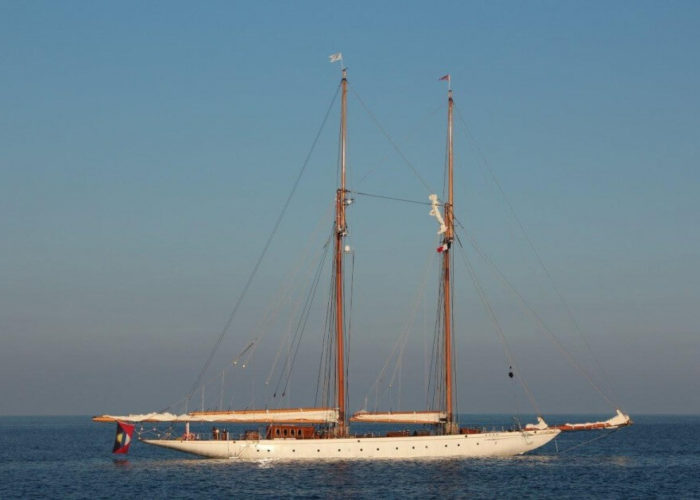 Classic Sailing Yacht Germania Nova At Anchor