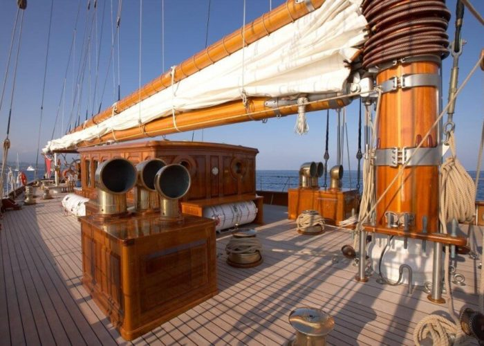 Classic Sailing Yacht Germania Nova Deck