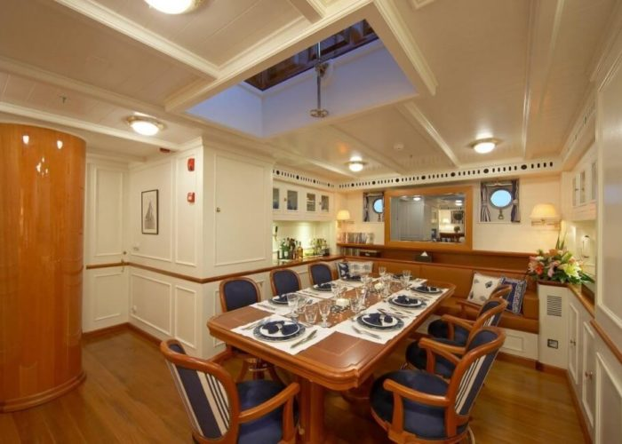 Classic Sailing Yacht Germania Nova Inside Dining