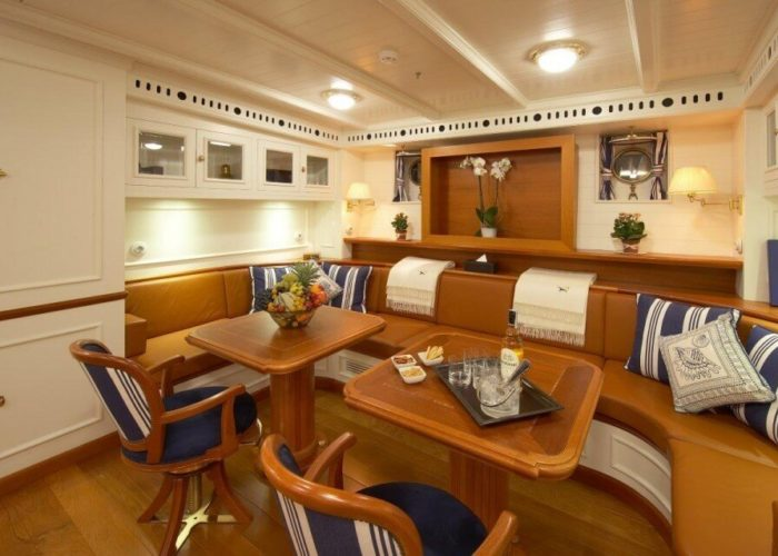 Classic Sailing Yacht Germania Nova Main Saloon