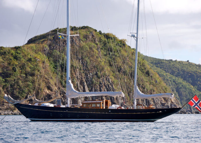Classic Sailing Yacht Sincerity At Anchor