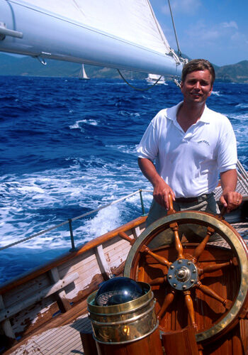 Classic Sailing Yacht Sincerity At The Helm