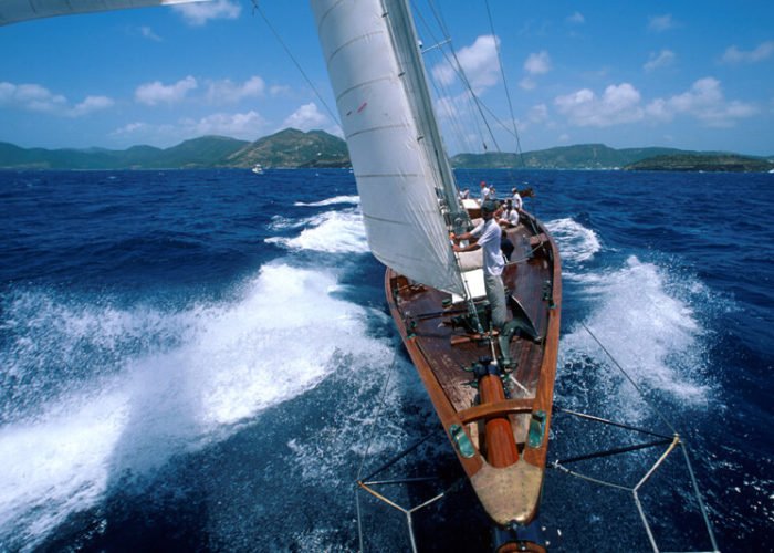 Classic Sailing Yacht Sincerity Bow Shoot