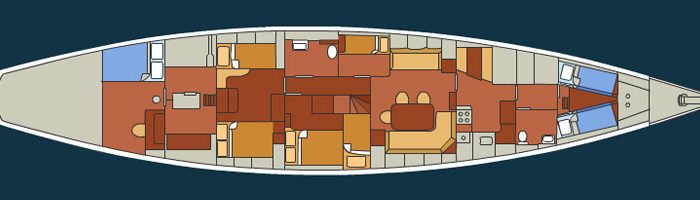 Classic Sailing Yacht Sincerity Layout