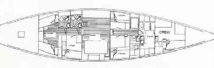 sailing yacht Paulena layout