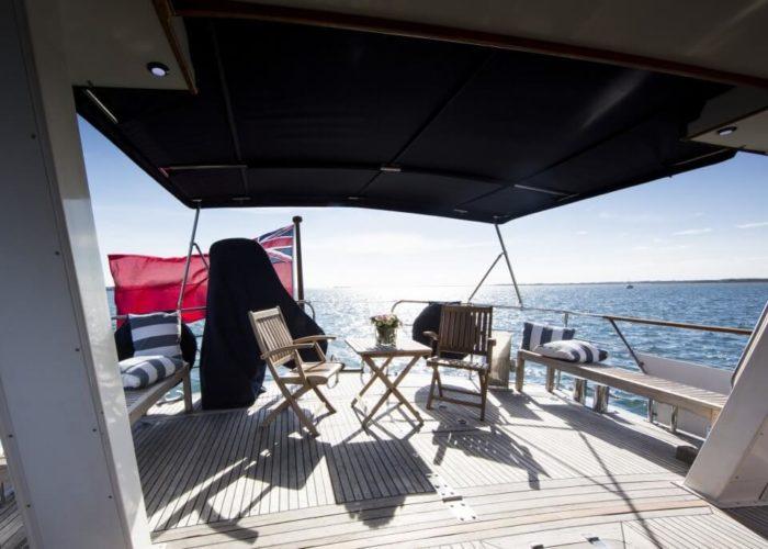 Classic Motor Yacht Rum Jungle Aft Deck