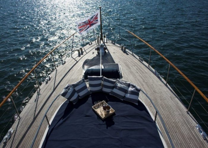 Classic Motor Yacht Rum Jungle Foredeck