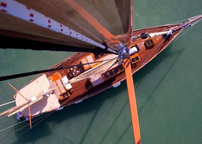 Classic Sailing Yacht Aventure Aerial