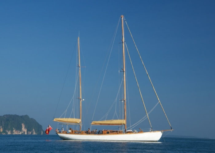 Classic Sailing Yacht Aventure At Anchor