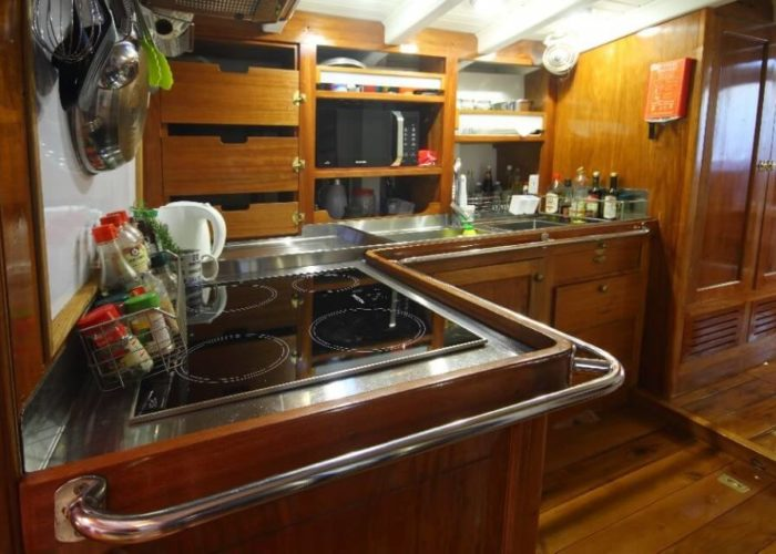 Classic Sailing Yacht Aventure Galley
