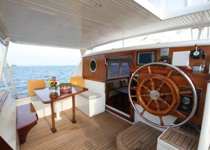Classic Sailing Yacht Meta IV Cockpit