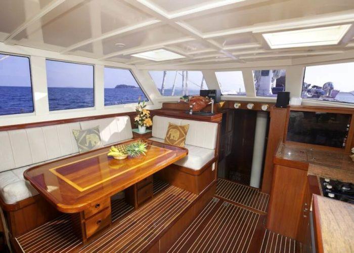 Classic Sailing Yacht Meta IV Saloon