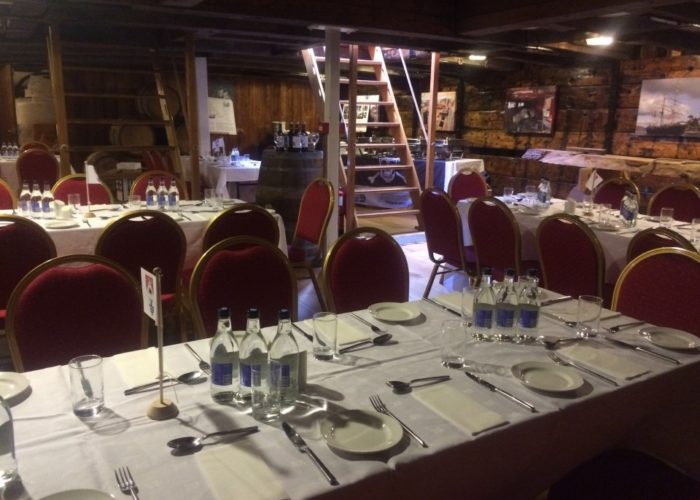 Tall Ship Kaskelot Dining