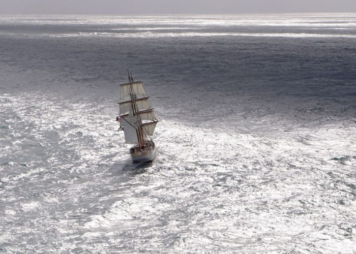 Tall Ship Kaskelot Far Astern
