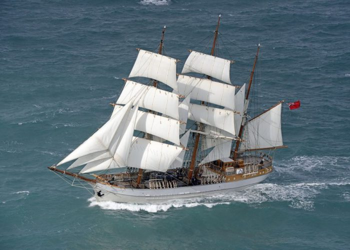 Tall Ship Kaskelot Under Sail