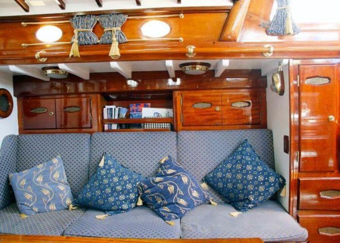 Classic Sailing Yacht Cetewayo Interior