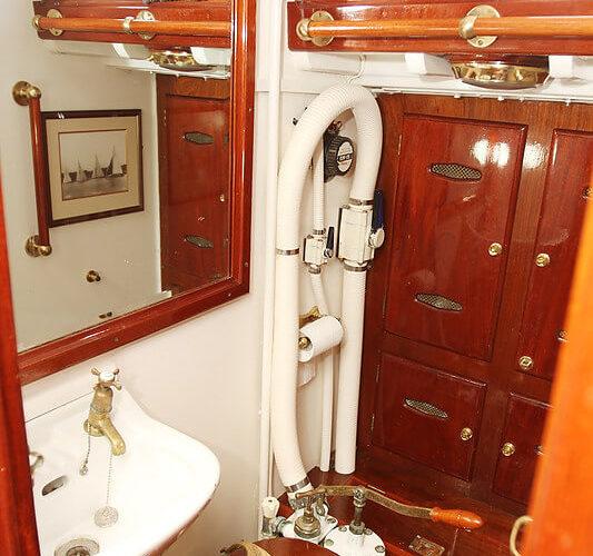 Classic Sailing Yacht Cetewayo Interior Shot Of Bathroom