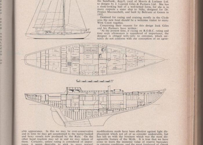 Classic Sailing Yacht Cetewayo Laurent Giles 20T