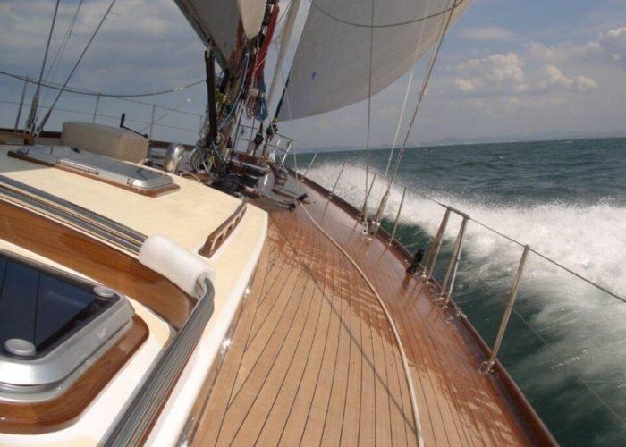 Classic Sailing Yacht Clan Deck